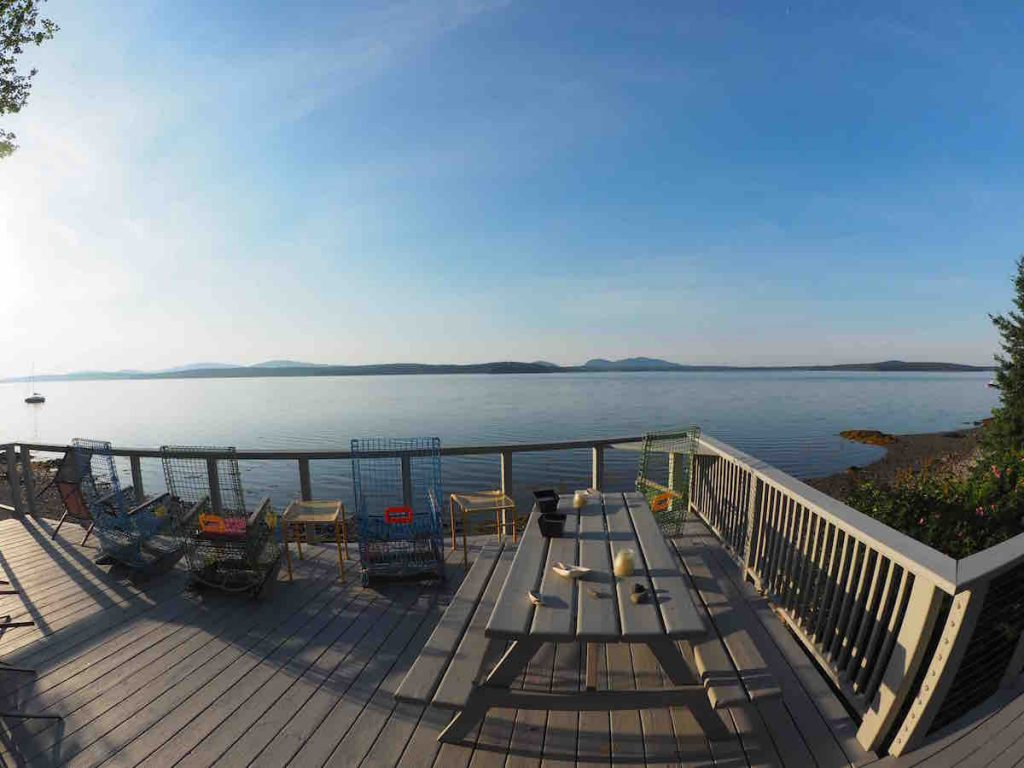 View from the Deck on Maine 6:30 am