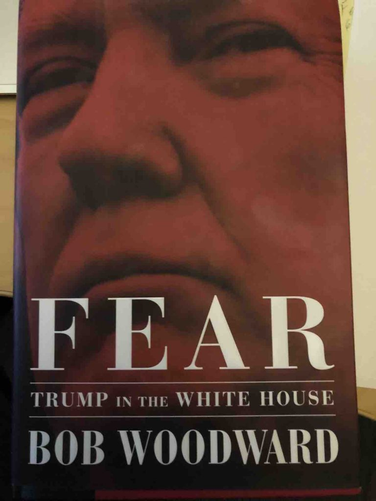 FEAR, Bob Woodward's about Trump