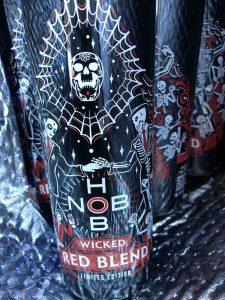 Wine Bottle with dancing skeletons