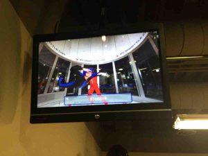 Alex and Mitch in iFly Seattle