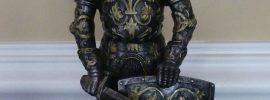 metal figurine of a knight