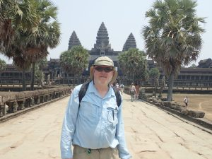Author in front of Angkor Wat