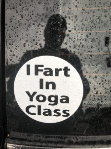 """Car Sticker """"I Fart in Yoga Class"""""""