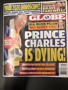 Globe supermarket tabloid headline